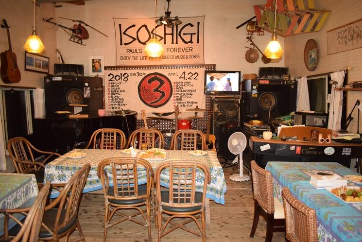 レストラン完備(宿の隣はレストランISOSHIGI)
