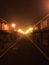 霧の町並み