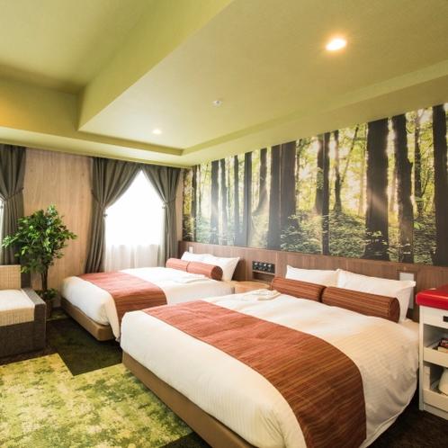 31㎡ ベッド幅140㎝×2台 ソファーベッドあり お風呂・トイレ完全に別々