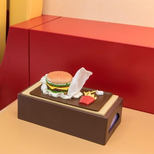 ハンバーガーのティッシュカバー