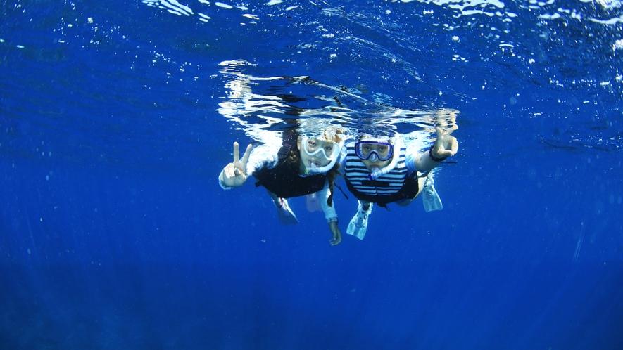 *【シュノーケリング】比較的穏やかな海なので、シュノーケリングや磯遊びもおすすめ