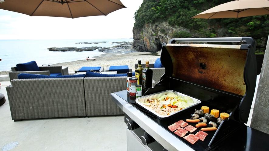 *【バーベキュー】海で遊びながら BBQ も楽しみましょう!