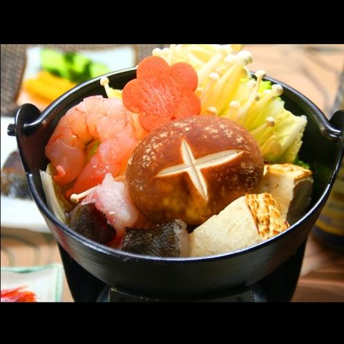 ■【夕食】旬味覚の鍋