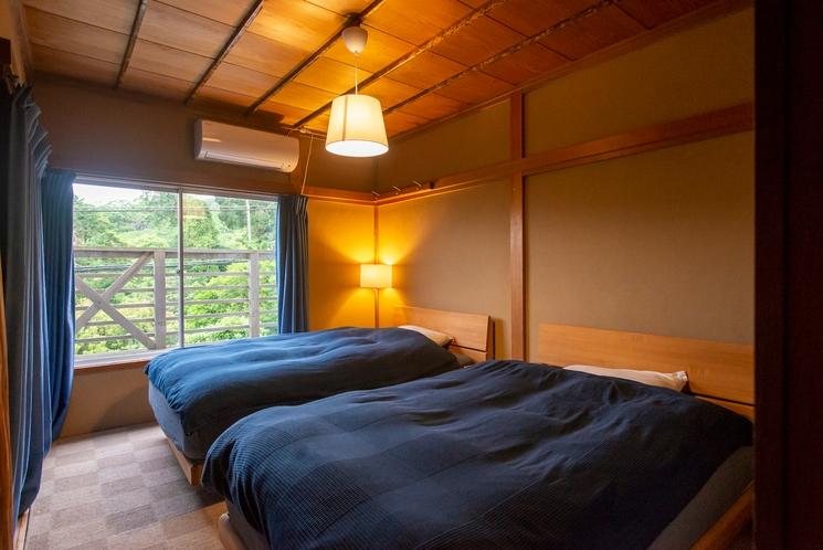 菖蒲沢ログ 寝室