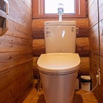 *【コテージA棟/トイレ】洗浄機能付ではありませんがヒーター付の便座です