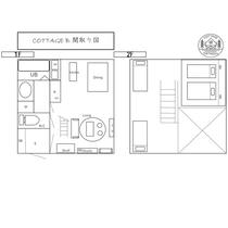 *【コテージB棟/間取り図】