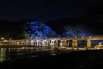 【夜の京都】渡月橋_嵐山花灯路