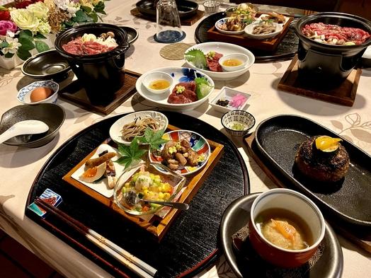【夕朝食付】富士桜ポーク100%使用ジューシーハンバーグ等のコース料理と洋朝食(ペット同伴可)