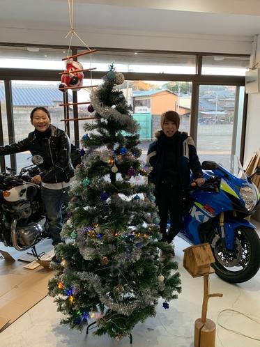 バイククリスマス