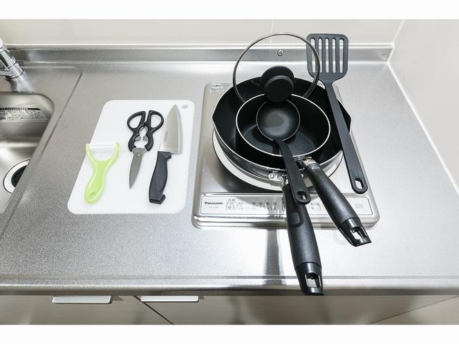 調理器具も完備しております ご自由にお使い下さい