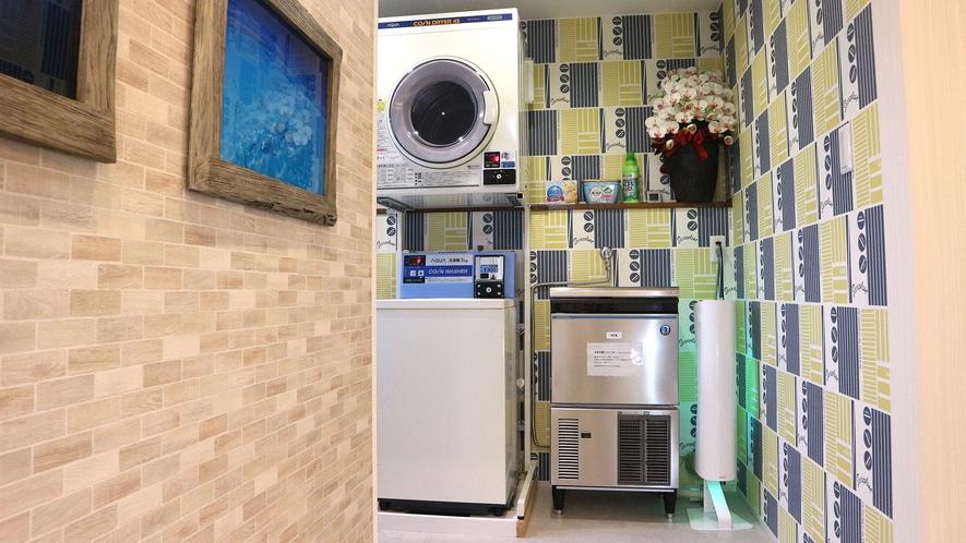 製氷機 1階コインランドリー室にございます