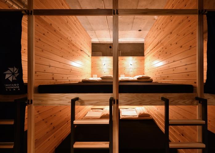 ベッド 杉板で和の雰囲気と温かみのある寝床