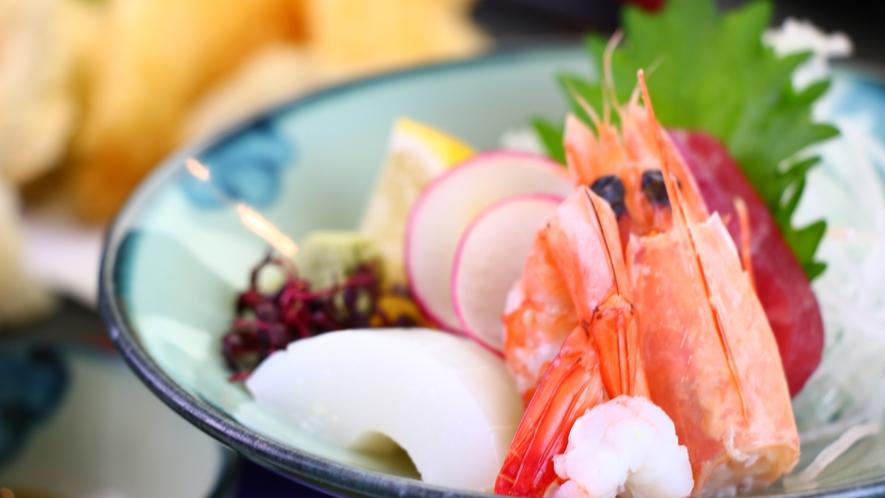 ■夕食■天ぷら刺身膳_お造り