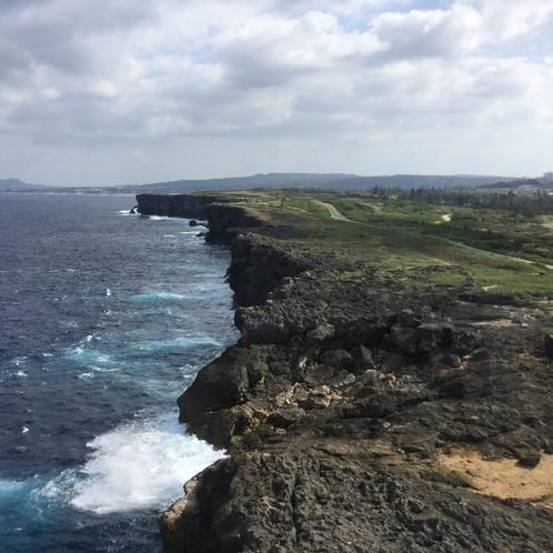 残波岬灯台からの眺め