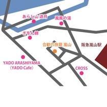当館から近隣施設へのアクセス(MAP)