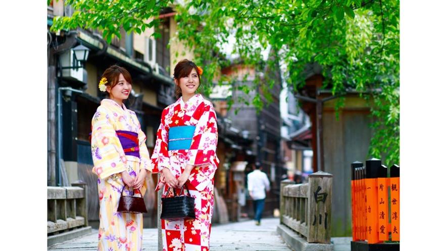 【嵐山コラボ】ぎをん錦 浴衣イメージ