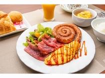 朝食サービス!日替わりメニュー♪ ※和食の日もあり。