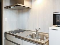 B type_キッチン◆電子レンジと電気ケトルもご用意しています