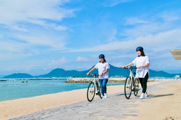 【eBikeレンタル4時間付】電動アシスト付き自転車で快適サイクリング!〔朝食付〕