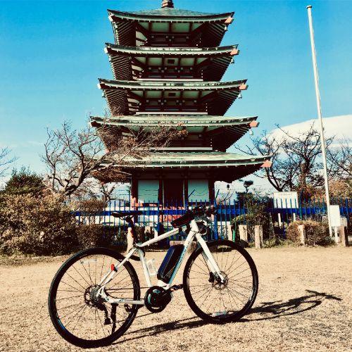 香貫山五重塔はeBikeで行くのがおすすめ☆激しいアップダウンではeBikeの性能を体感できます。