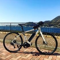 絶景ポイントの宝庫、駿河湾。美しい景色と心地よい風を感じながらサイクリングをお楽しみください。