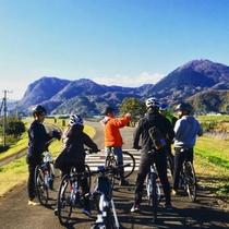 狩野川の河川敷は整備されていますので、初心者のサイクリングには最適です。