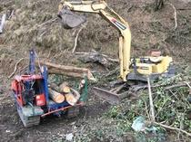伐採木の運搬