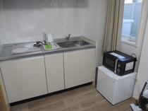 Gタイプミニキッチン・電子レンジ・冷蔵庫