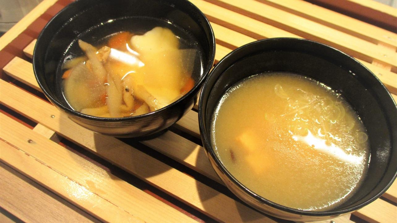 ◆ひっつみ汁&日替わり味噌汁(イメージ)