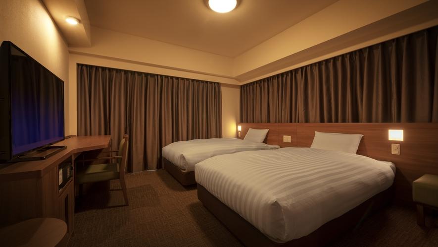 ◆客室【ツインルーム】 21平米 シモンズ社製ベッド120×195㎝