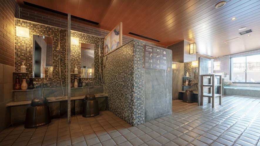◆男性大浴場【洗い場】 13席