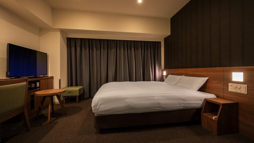 ◆客室【クイーンルーム】 20平米 シモンズ社製ベッド160×195㎝