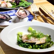真鱈の塩麹漬けに季節のお野菜を添えて