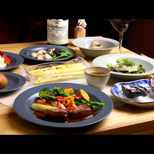 シエフがパリからの食材や日本の各地から選りすぐりの産地直送食材を使って調理するフレンチビストロ