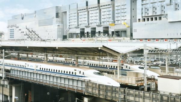 新幹線が見えるツインルーム確約(禁煙)