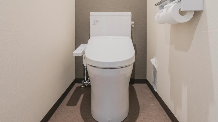 個室トイレ完備(シングルのみユニット)