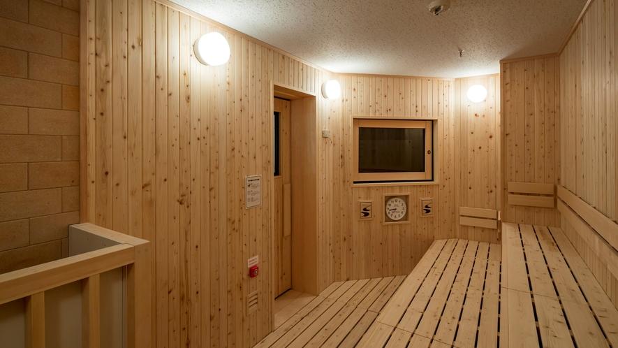 大浴場にはドライサウナ完備!
