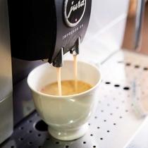 ウェルカムコーヒーはお部屋にもお持ちいただけます。