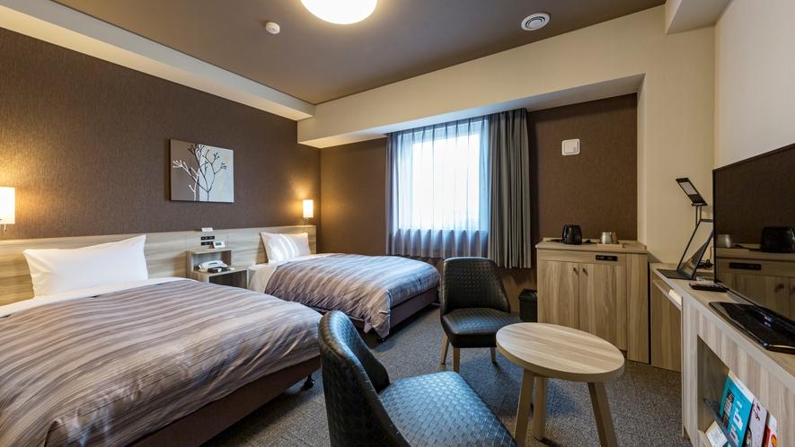 スタンダードツインルーム:ベッド幅110×200