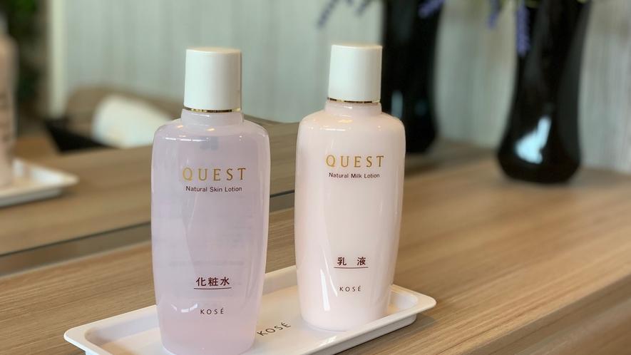 女性大浴場設置:化粧水・乳液