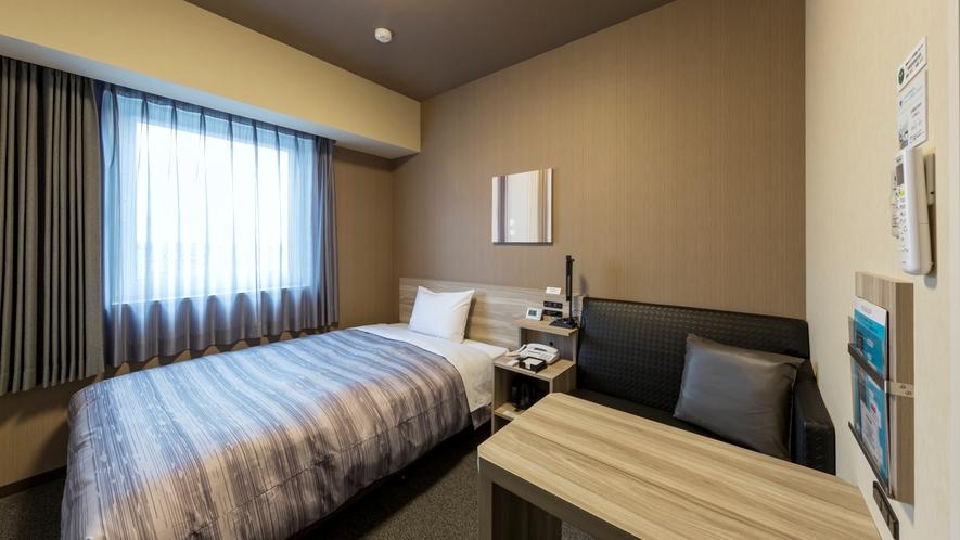 スタンダードシングルルーム:ベッド幅130×200