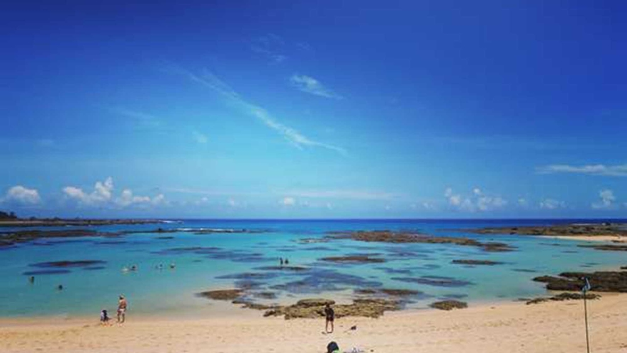 ・通称「ブルーエンジェル」、奄美でいちばん美しいといわれる土盛海岸も徒歩圏内