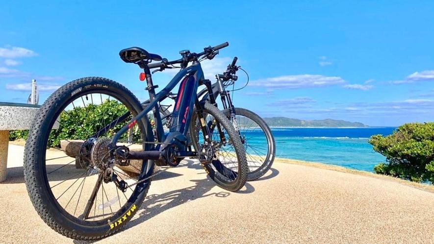 ・サイクリングしながら海やサトウキビ畑などの景色を楽しめます