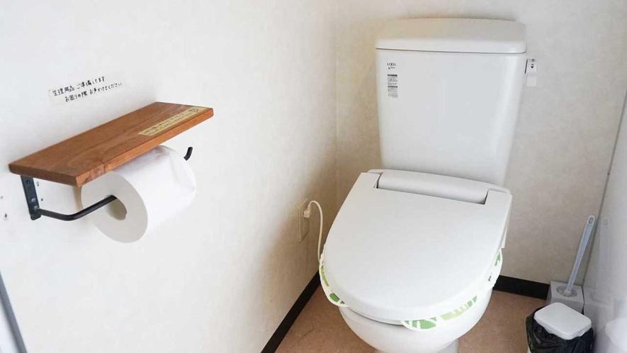 ・【共用】男女別トイレ、温水洗浄機能付