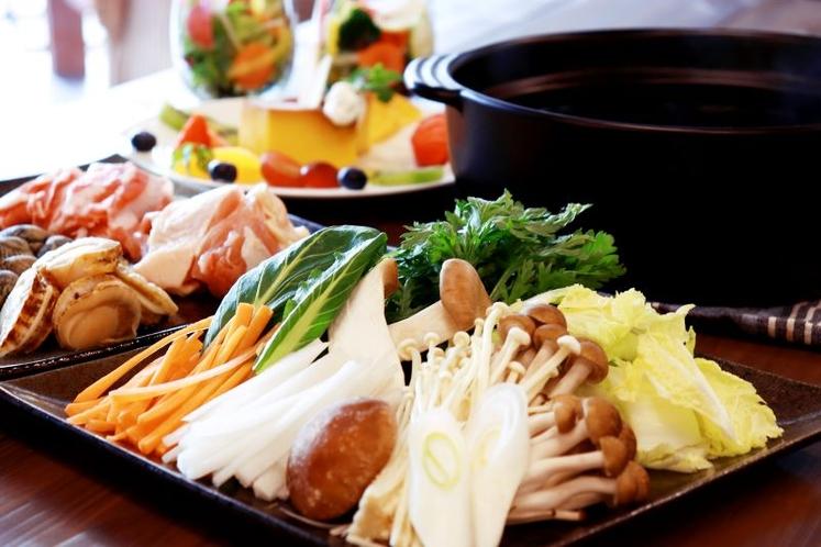 和風なた豆茶鍋 食材