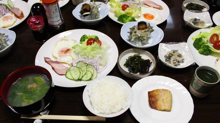 *朝食/ほかほかの御飯とお味噌汁、家庭的な朝ごはんをお召し上がり下さい