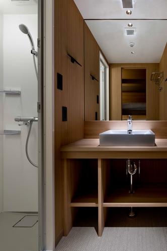 【シャワールームタイプの洗面】シャワールームタイプは洗面・浴室セパレートタイプです。