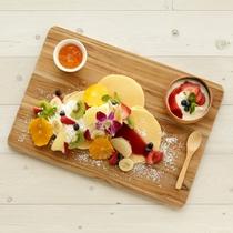 【朝食<Breakfast>】 パンケーキプレート*Pancake Plate*