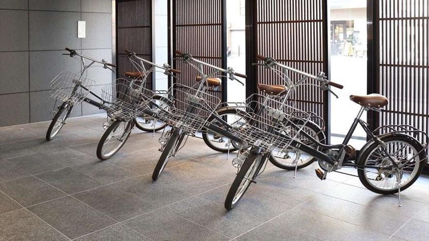 京都観光に便利な自転車を貸出しております。(先着順・予約不可)
