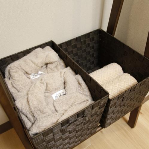 タオルやバスローブもご用意ございます